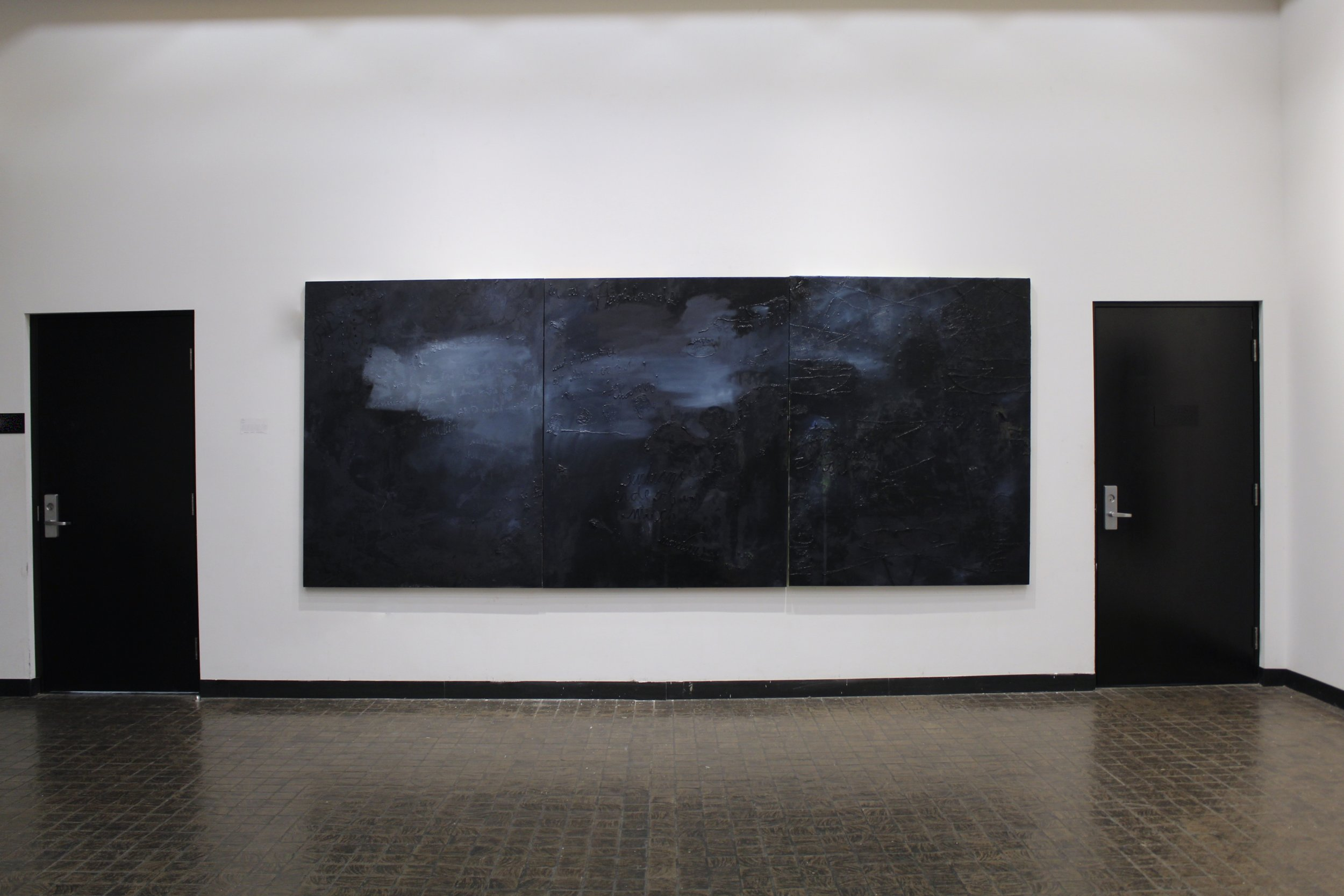 The Highlands, installation photo from solo show CONTRE/JOUR, List Art Center, Providence, RI, 2019