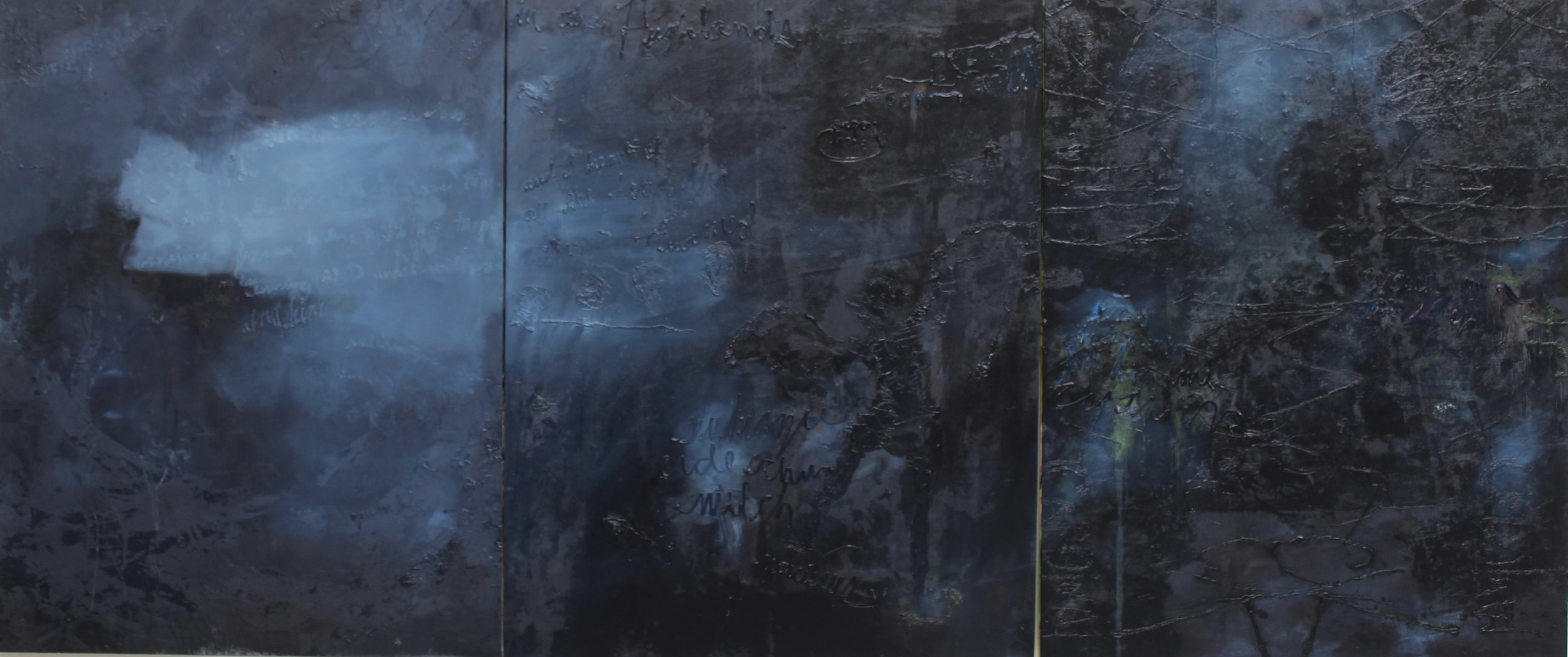 The Highlands, 66'' x 156'', oil on canvas, 2018-2019