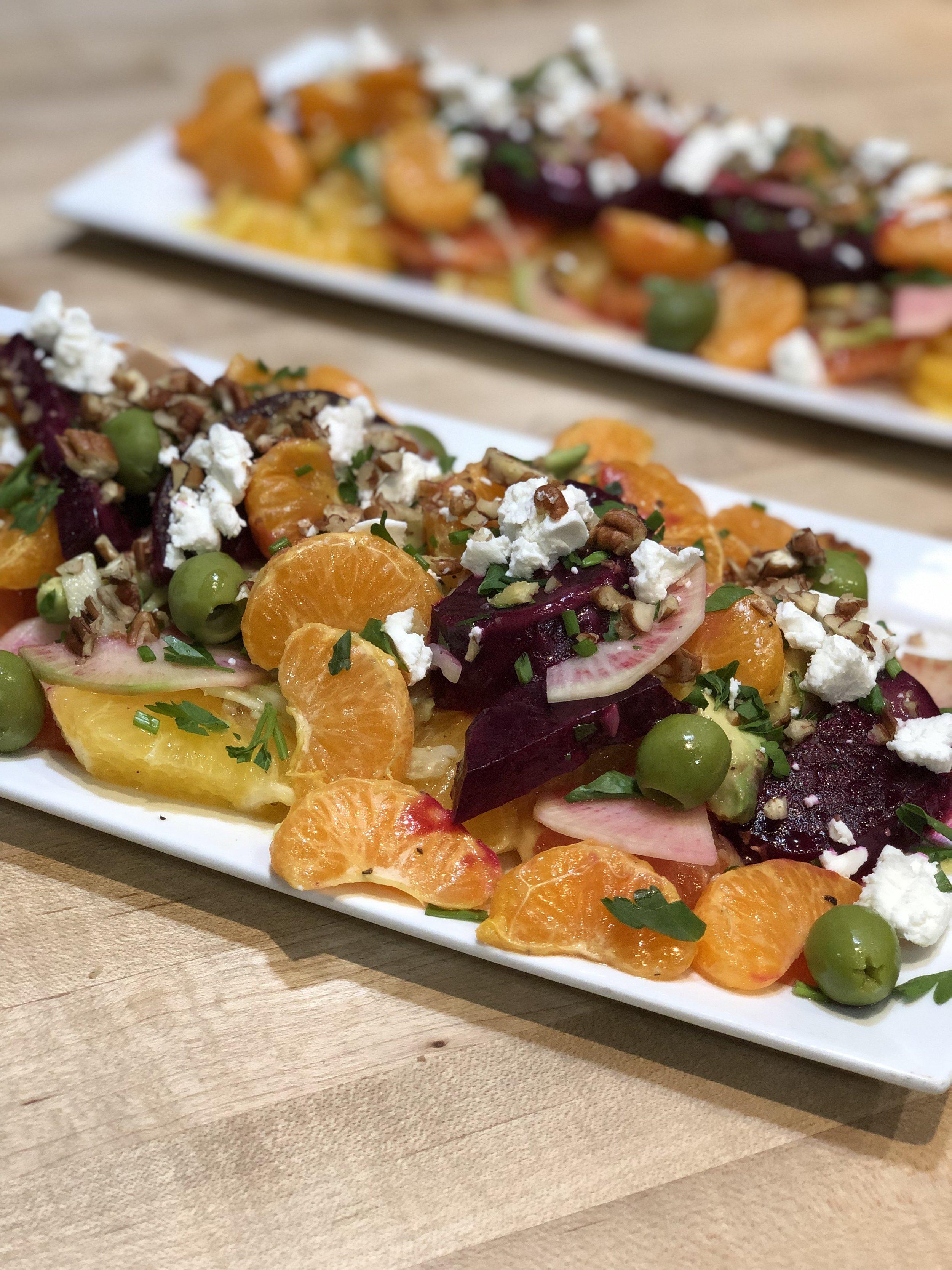 Citrus, Beet and Acocado Salad