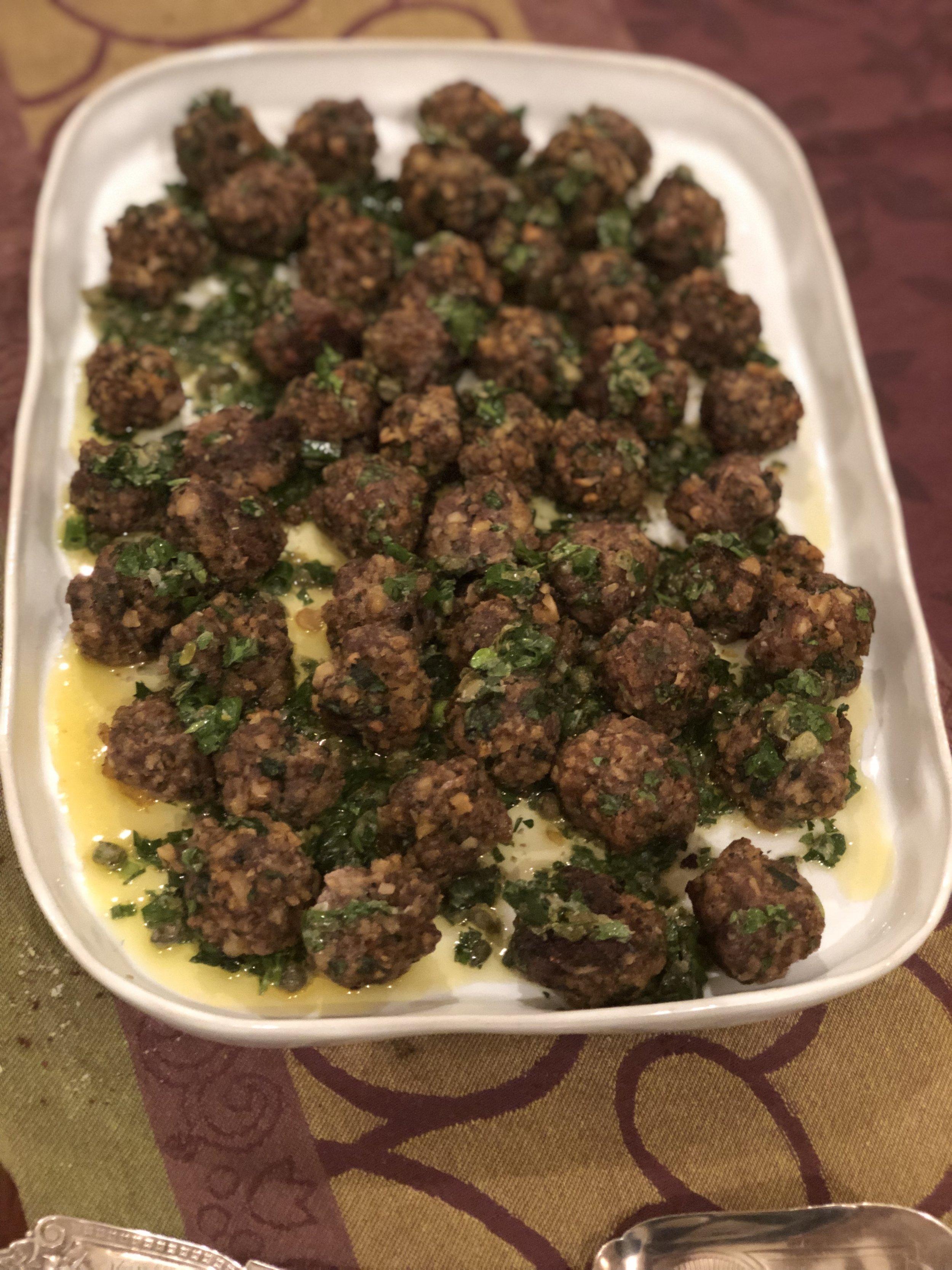 Crispy Meatballs with Salsa Verde