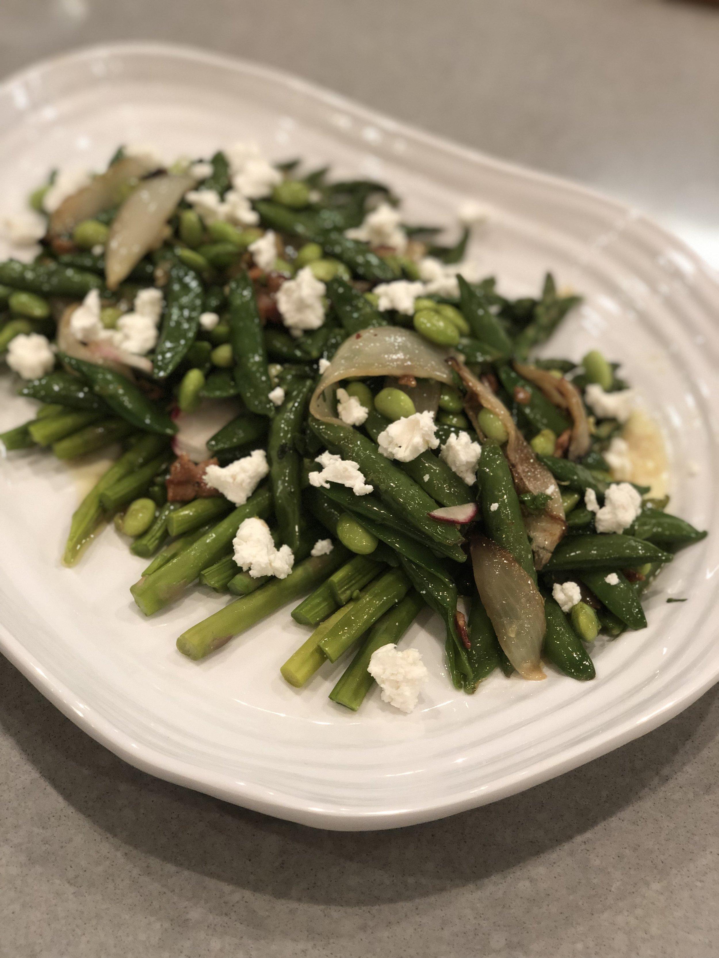 Edamame and Sugar Snap Pea Salad