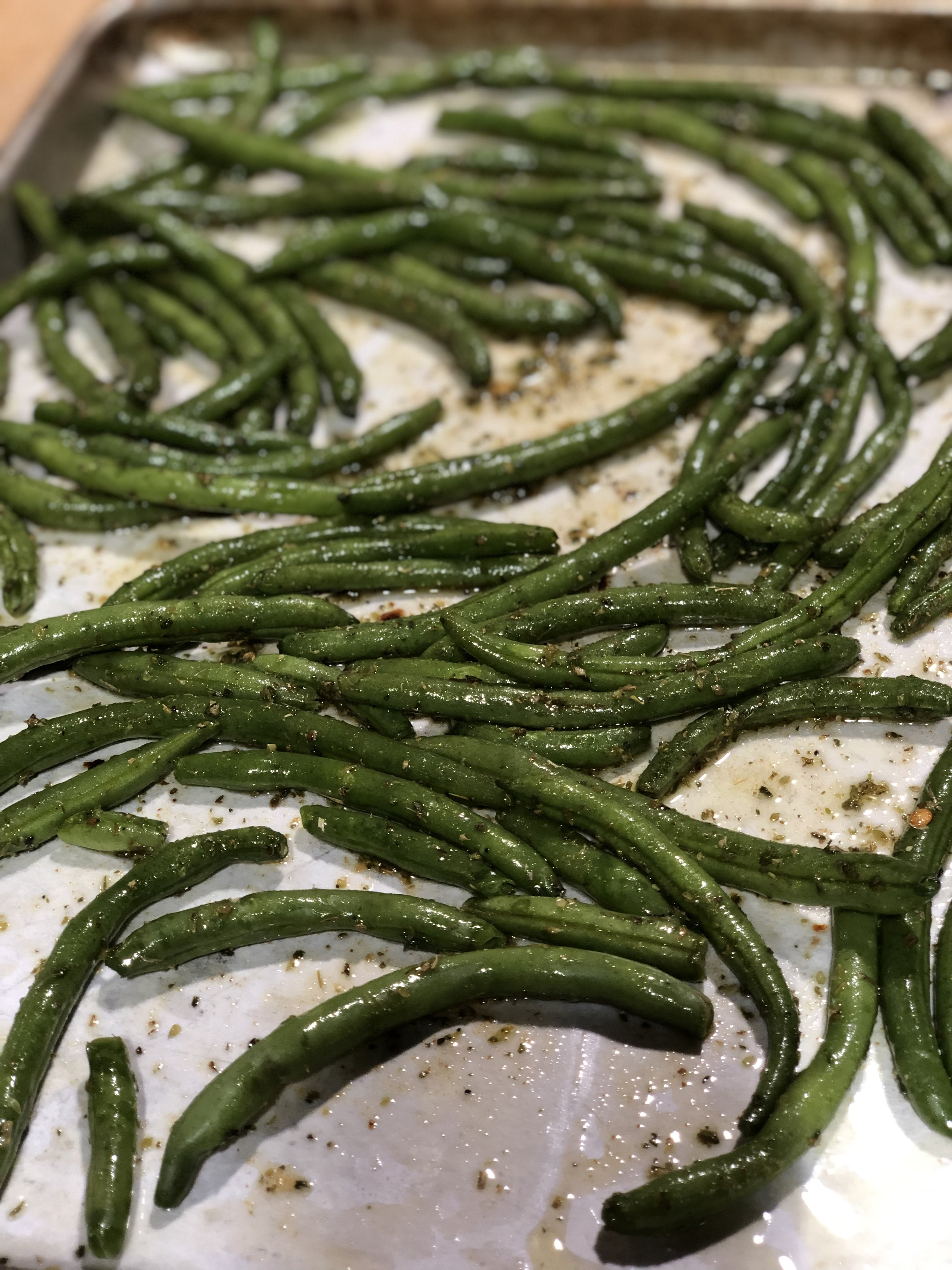 I highly recommend roasting green beans