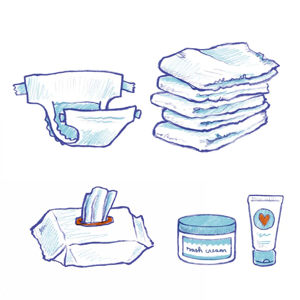 220 Diapers 240 Wipes 2 Rash Creams