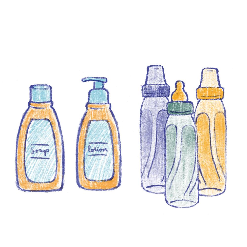 Baby Wash + Moisturizer  3 Bottles