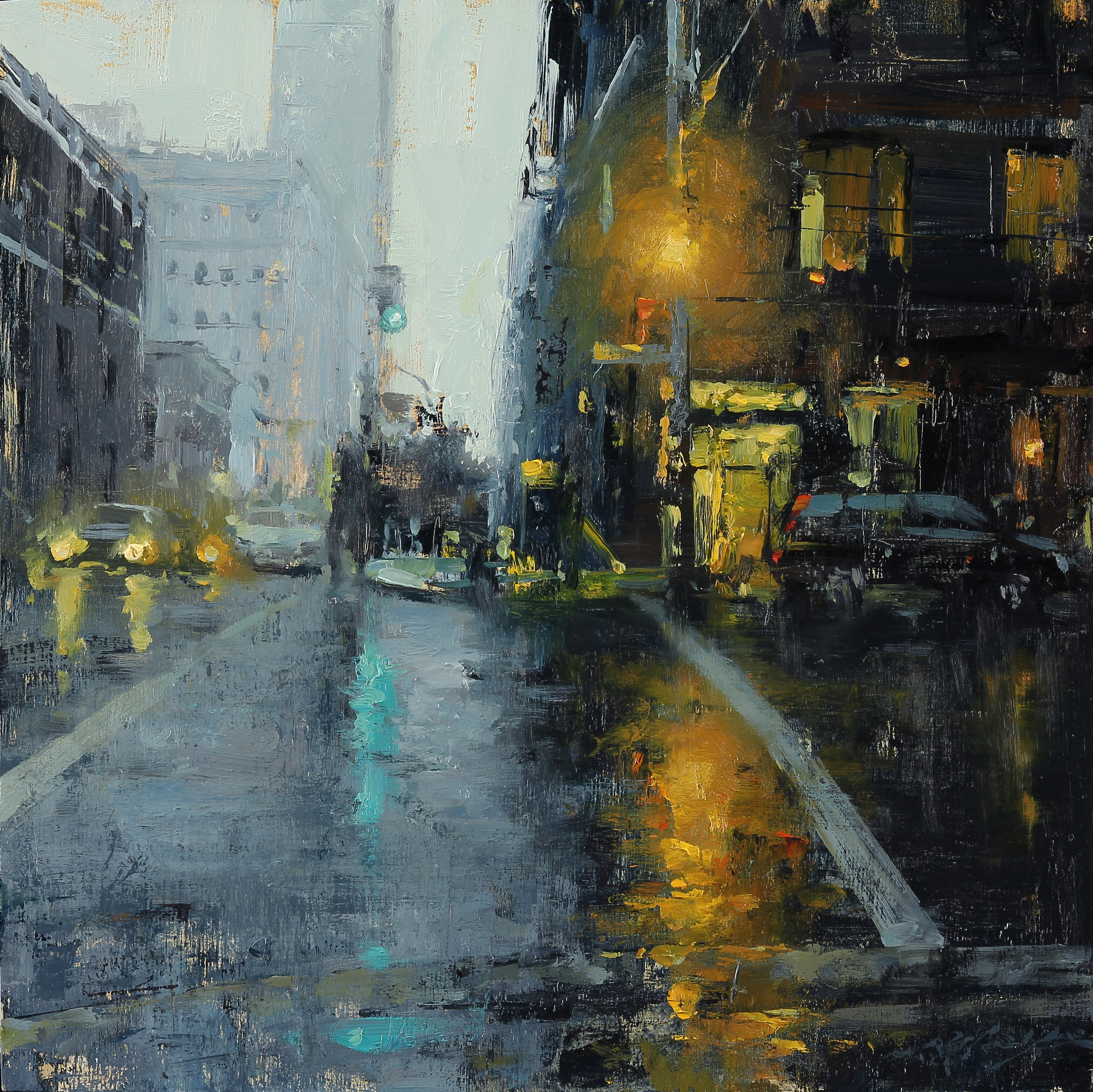 City Rain in Indigo