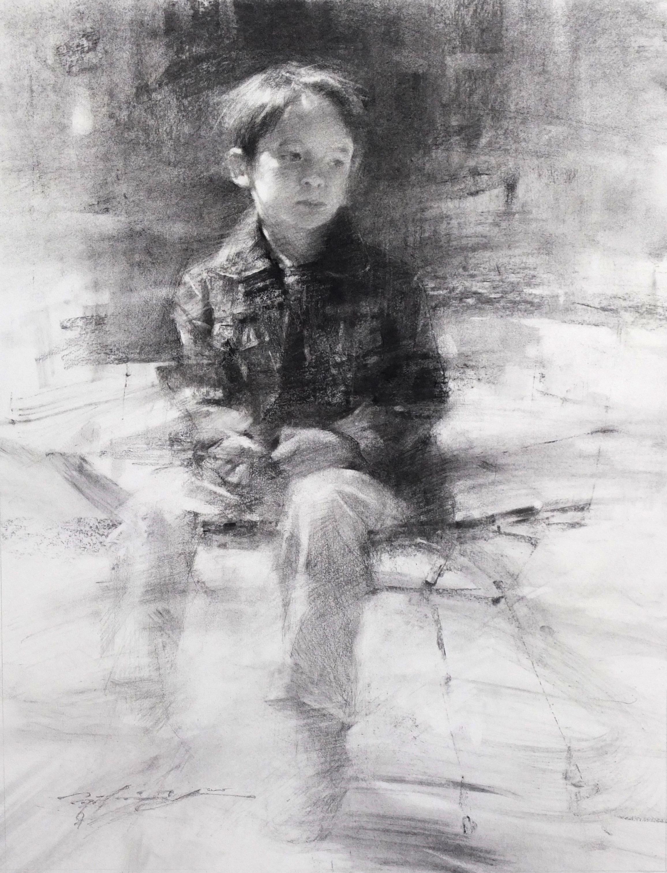 Kid with Denim Jacket