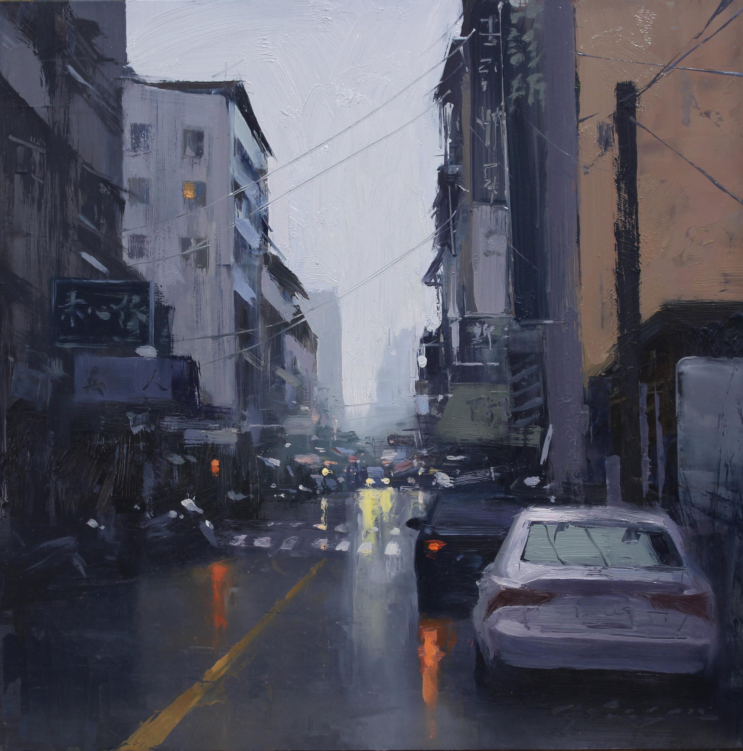 Taiwan Alley in Purple Grey