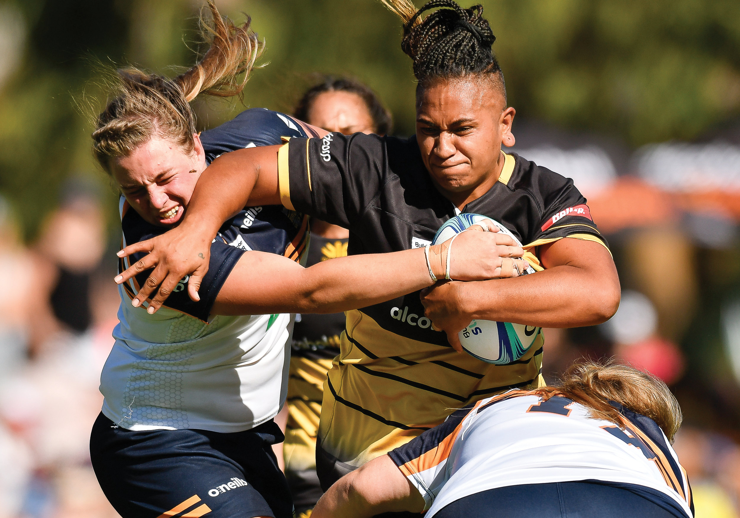 Johan Schmidt  'The Hit-Up' Sera Ah-Sam and Tayla Stanford, Rugby Union