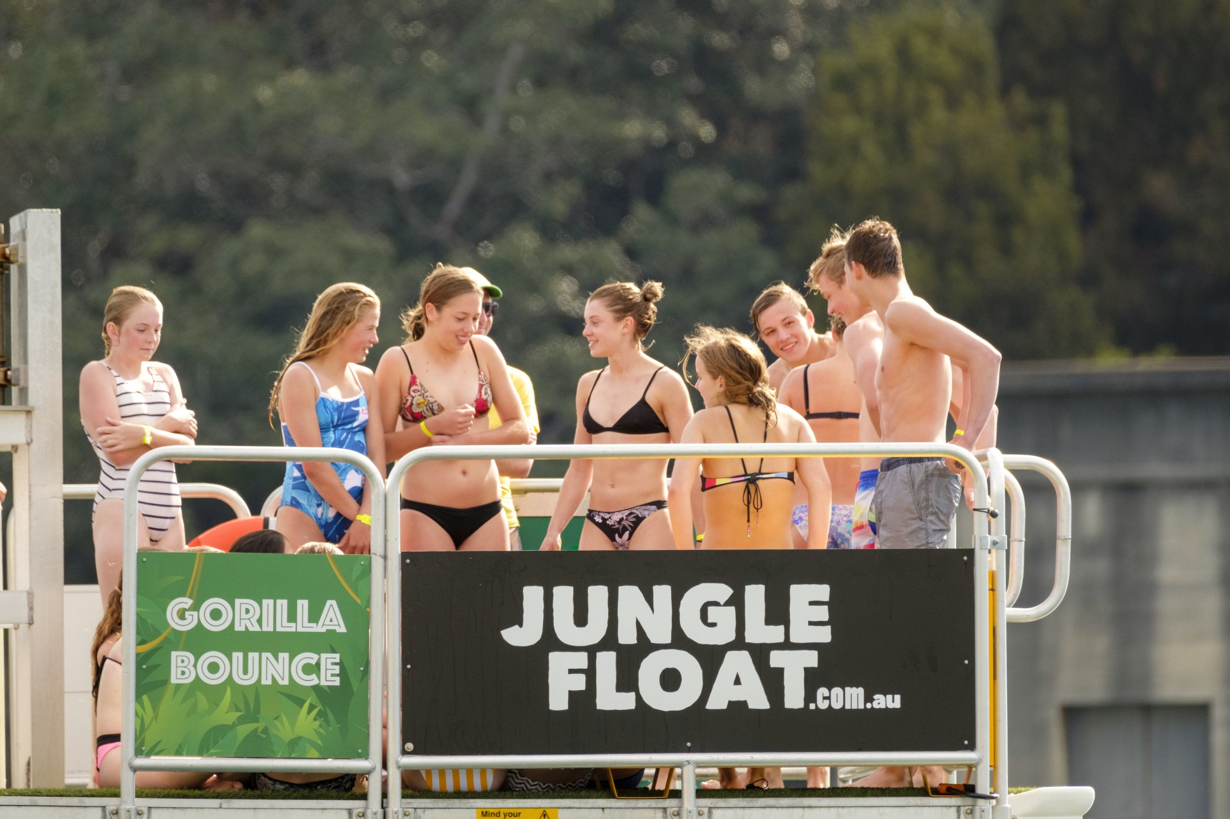 Ages & Groups - Suitable for 8 years and older. Children under 8 require an accompanying adult who is required to purchase a ticket - due to our capacity limits.Jungle Float is great for birthday parties. You get to relax on the beach while the kids go wild. Book a group into one of 1 hour long sessions and share the boat with other groups or select Exclusive Hire for a more intimate experienceWe suggest you book an Exclusive Hire for adult parties.