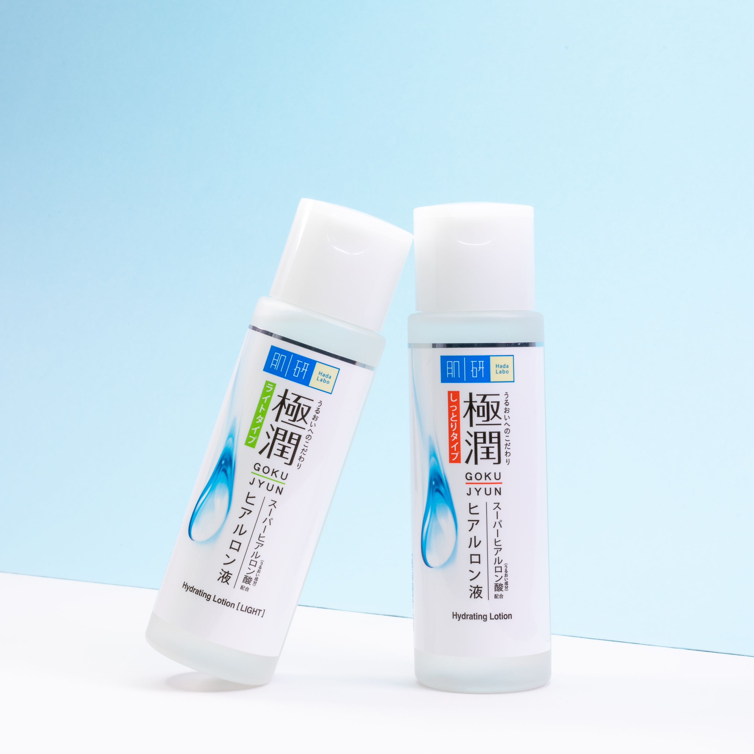 Rediscover the NEW Hada Labo Hydrating Lotion - With 4 types of Hyaluronic Acid in perfect ratio and different sizes, it is formulated to penetrate every layer of your skin to absorb, lock in, store, and replenish water, so that every inch of your skin is smooth and bouncy – for mochi mochi skin!