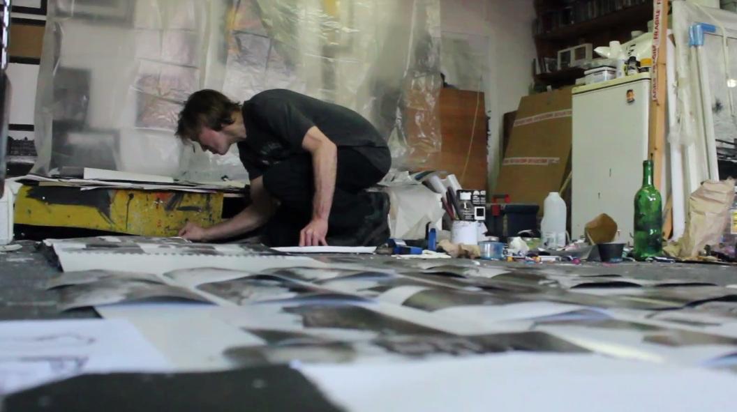 Ian Pearsall in his studio