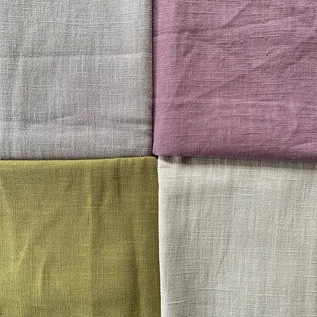 I can't take my eyes off my new pieces of linen from @pinsandneedlesgrayshott  These are the perfect spring shades!  #fabric #haberdashery #linen