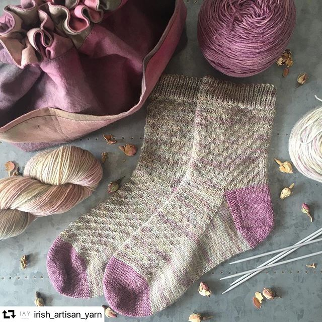 It's always so nice to see my project bags sitting alongside beautiful yarn and projects. I made this one in hand dyed cotton by @irish_artisan_yarn 😊❤️ .. #repost @irish_artisan_yarn ・・・ Thank you @tattycatsandyarnytales for these gorgeous socks in IAY Garnish Island with contrasting Toe & Heel in Muckish. Pattern is @tattycatsandyarnytales launching this summer. The project bag is a collaboration with @the_colourful_knit I hand dyed the fabric and Daniela made these beautiful bags, each one is unique. They will be coming to @festiwool & @woollinnyarnfest . . . . #yarn #knitting #knitters #crochet #handmade #handdyed #crochetaddict #crocheteveryday #crocheterofinstagram #happyhooker #lovecrochet #crochetgram #ilovecrochet #crochetlove #meetthemaker #dyer #marchmeetthemaker #lab #colour #dyeing #handmade #socks #sockknitter