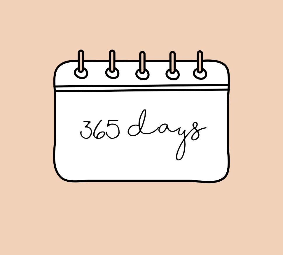 365 days of social media posts [plus 3 months bonus 2020] -