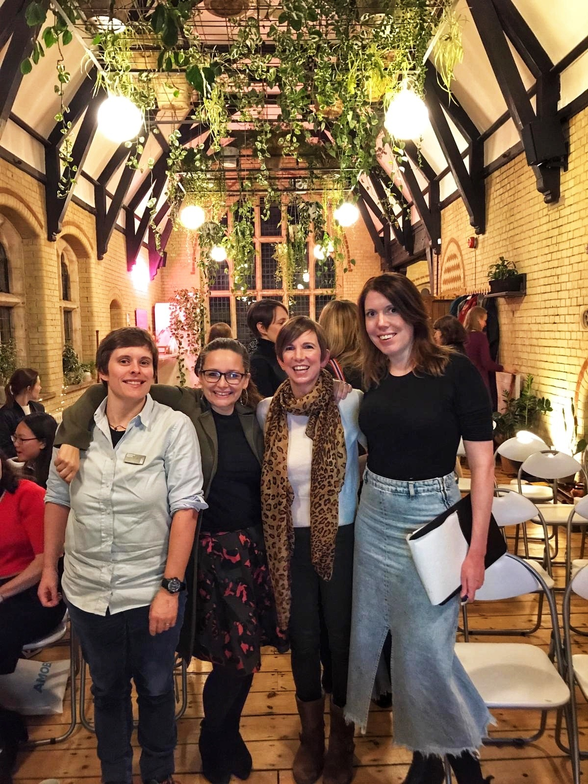 Liz, Johanna, Catherine and Kim at Heroine's Journey Nights