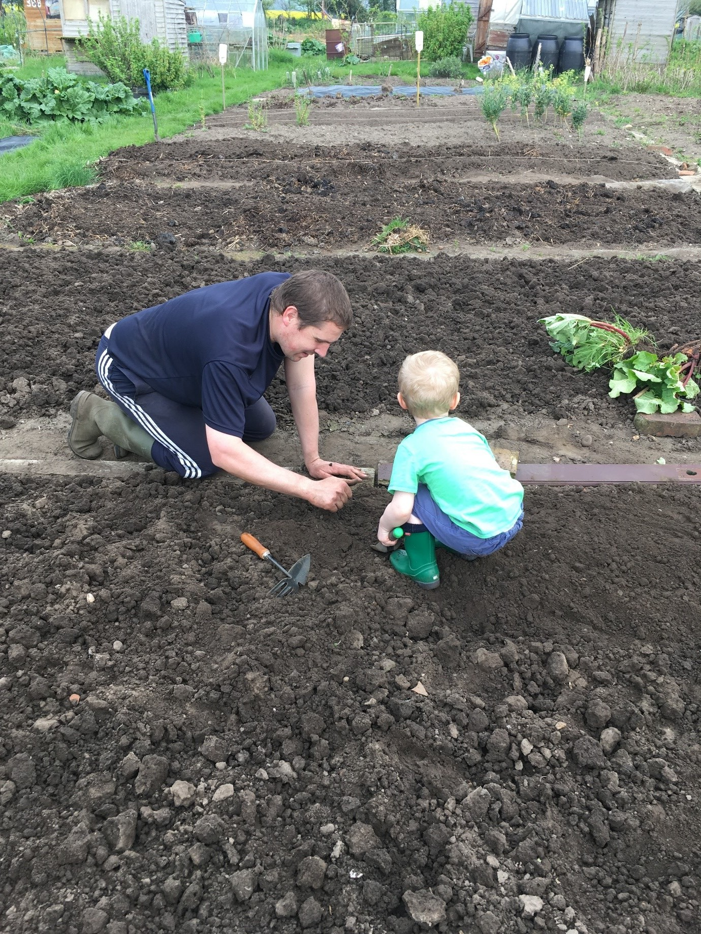 Creating a toddler friendly allotment