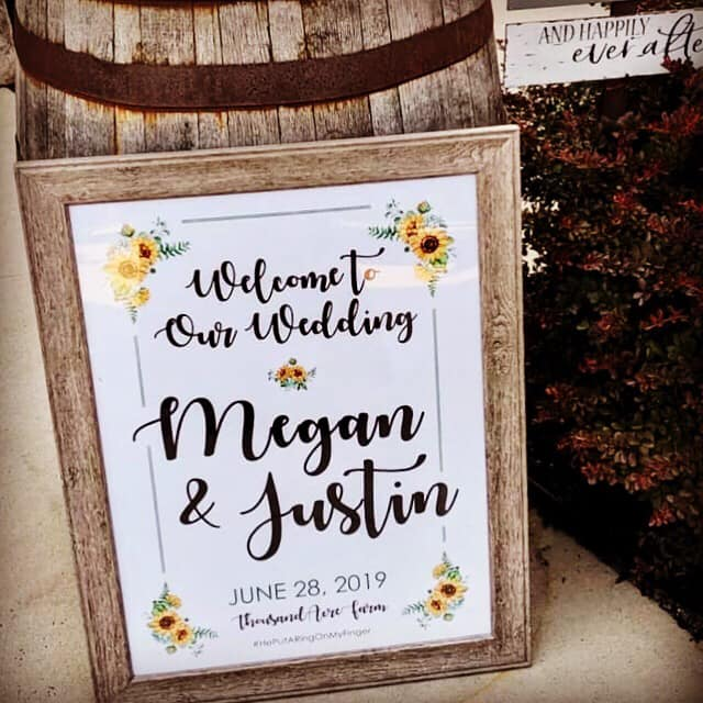 Welcome to Our Wedding Poster