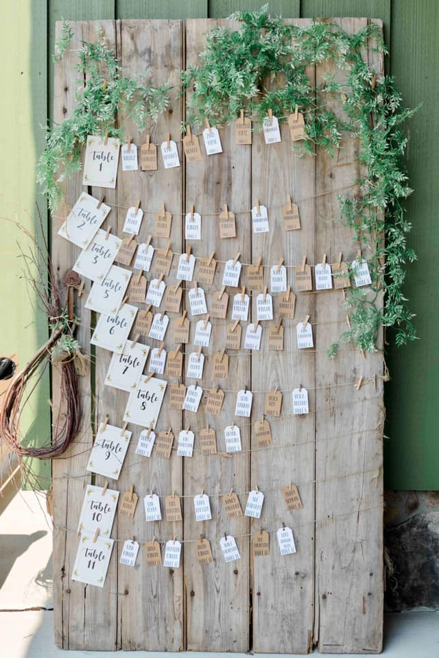 Table Number Assignment Board with Cards