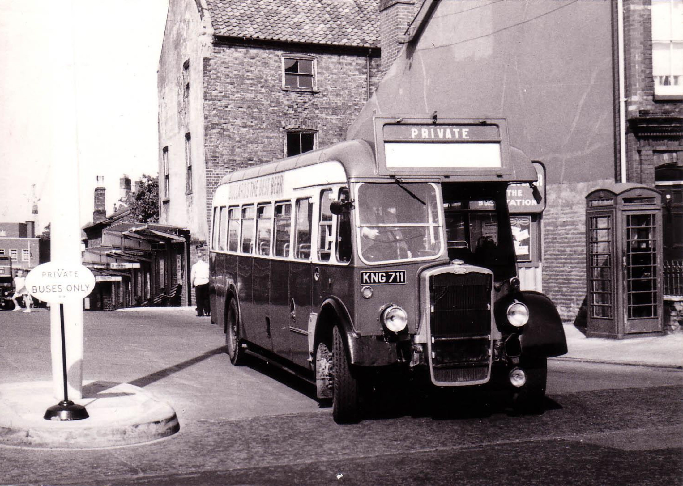 Photo taken in the early 1960s at the top of Norwich, Surrey Street Bus Station.