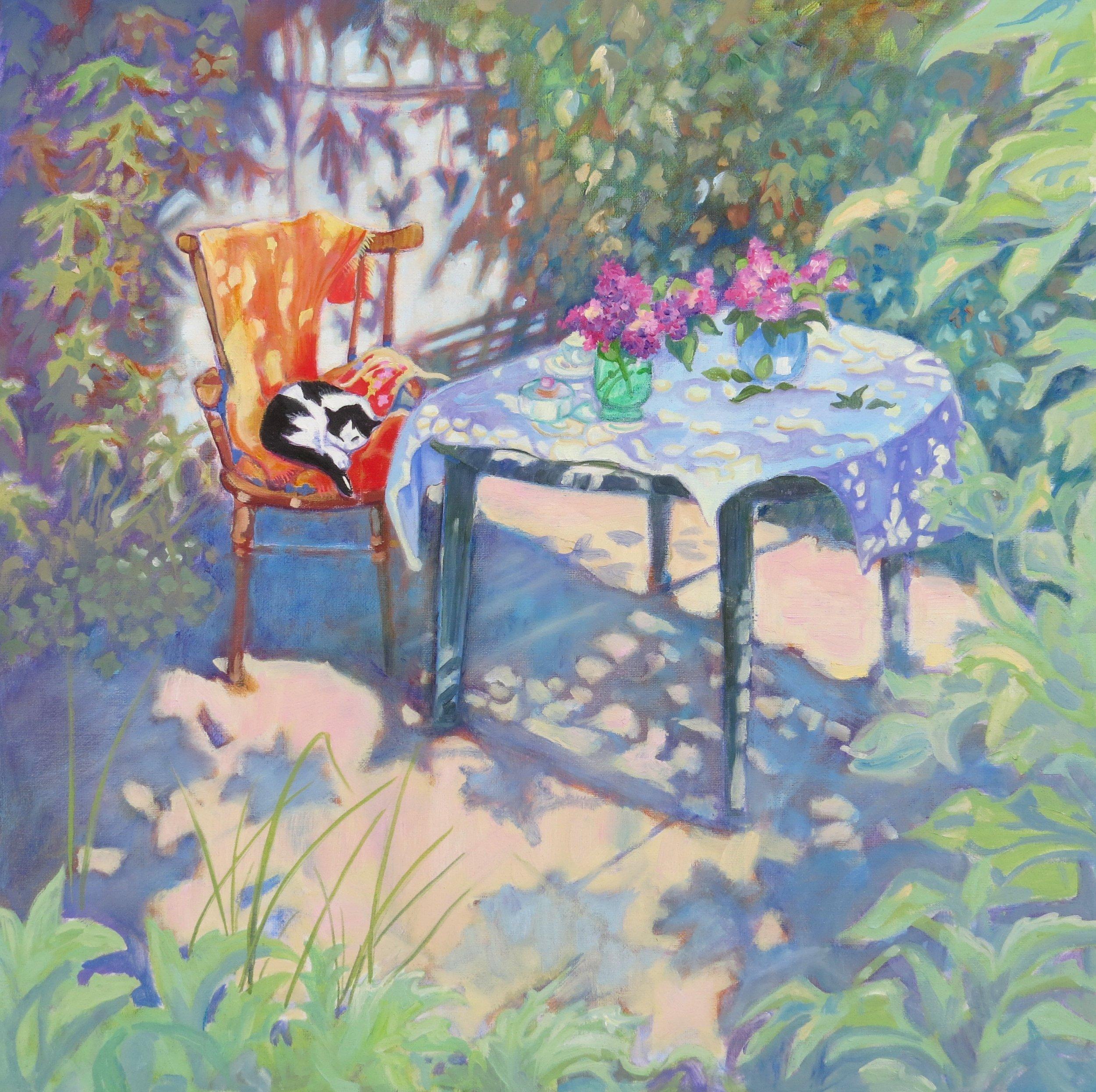 g282 Mary Kemp - Afternoon Sleep. oil on canvas panel 40 x 40.jpg
