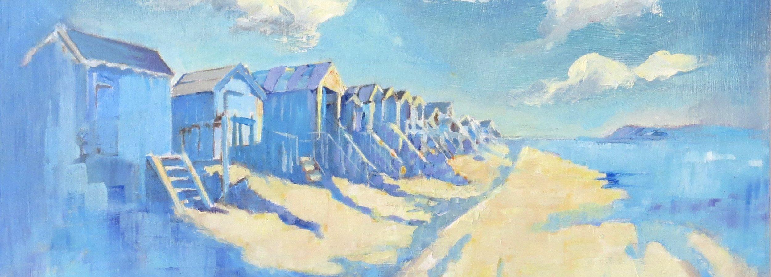mary kemp. Beach hut wells oil on canvas panel 40 x 40 cm.jpg