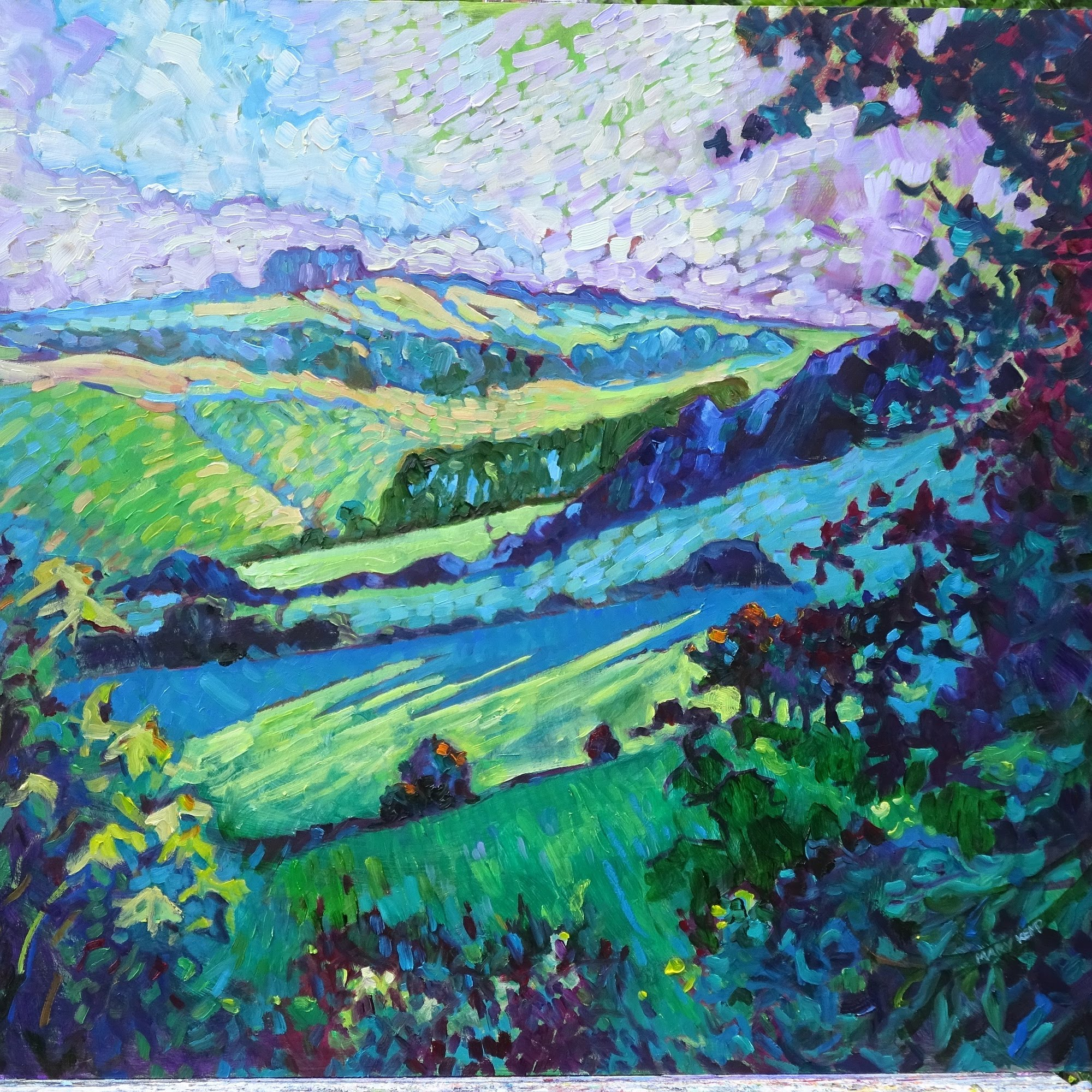 Derbyshire Hills  Oil on canvas panel  60 x 50 cm (24 x 20 inches)  £480