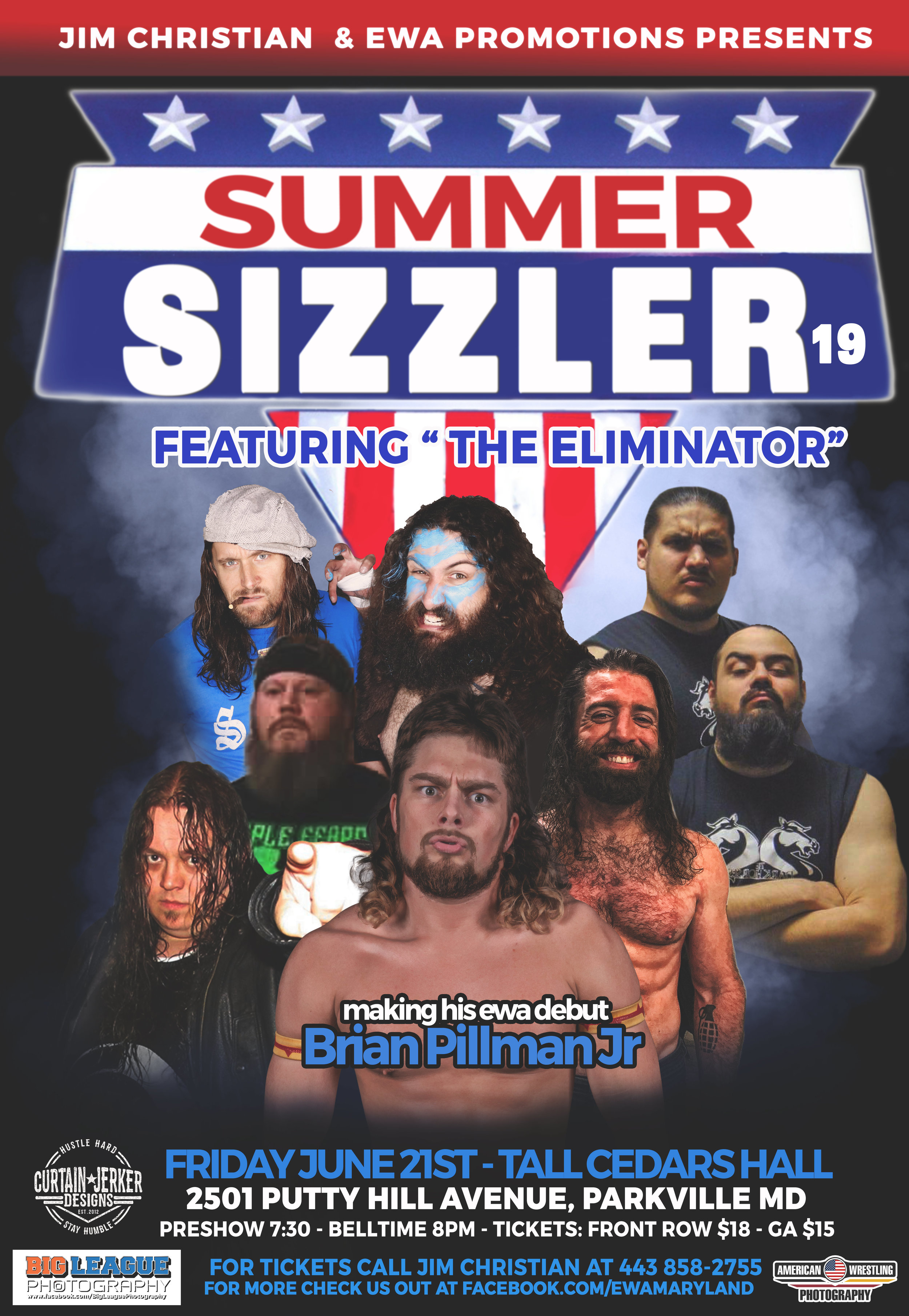 Official event poster for EWA Summer Sizzler 2019