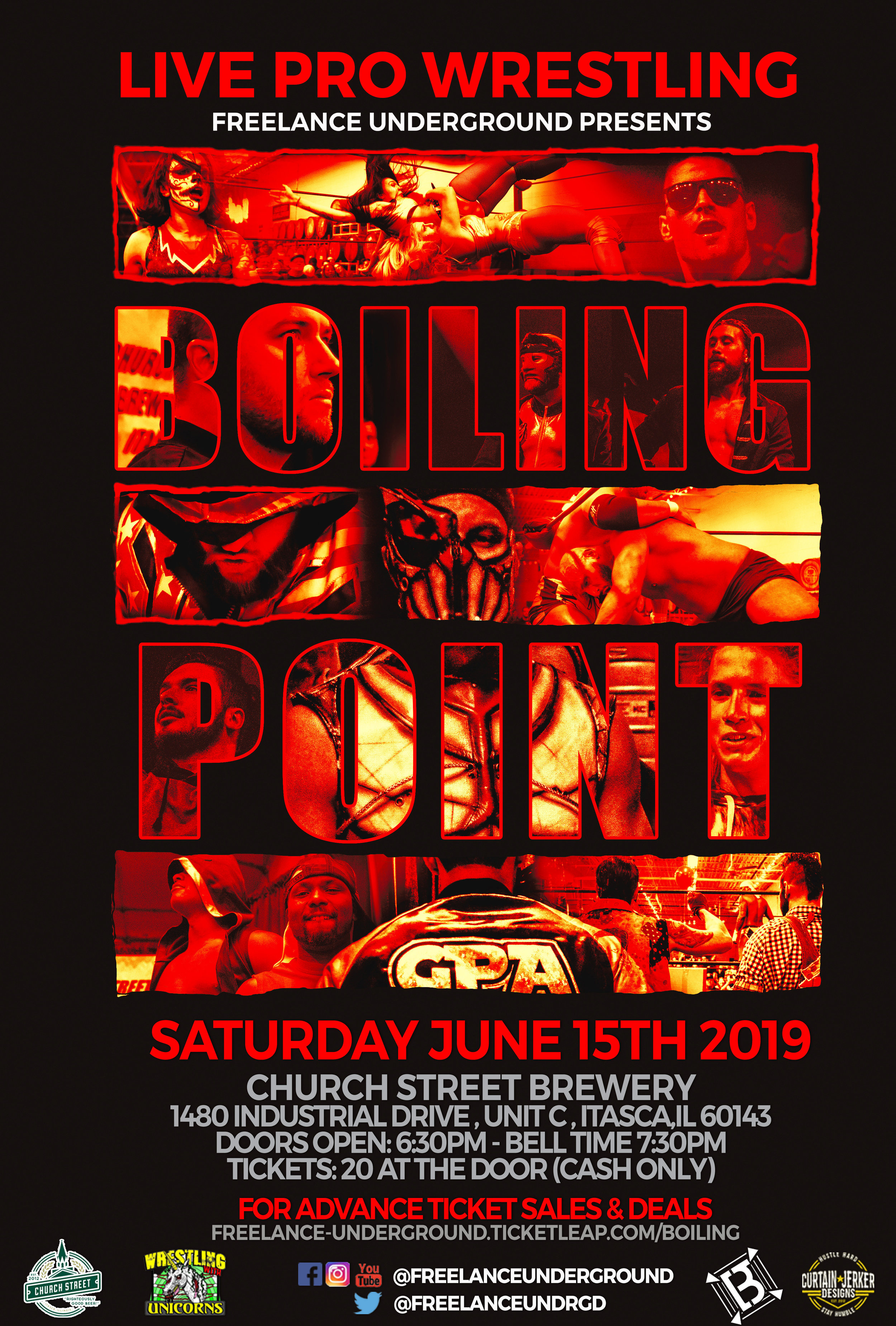 Official event poster for Freelance Underground Boiling Point