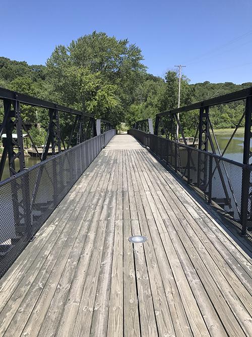 WALK HISTORIC NEW RICHMOND SWING BRIDGE