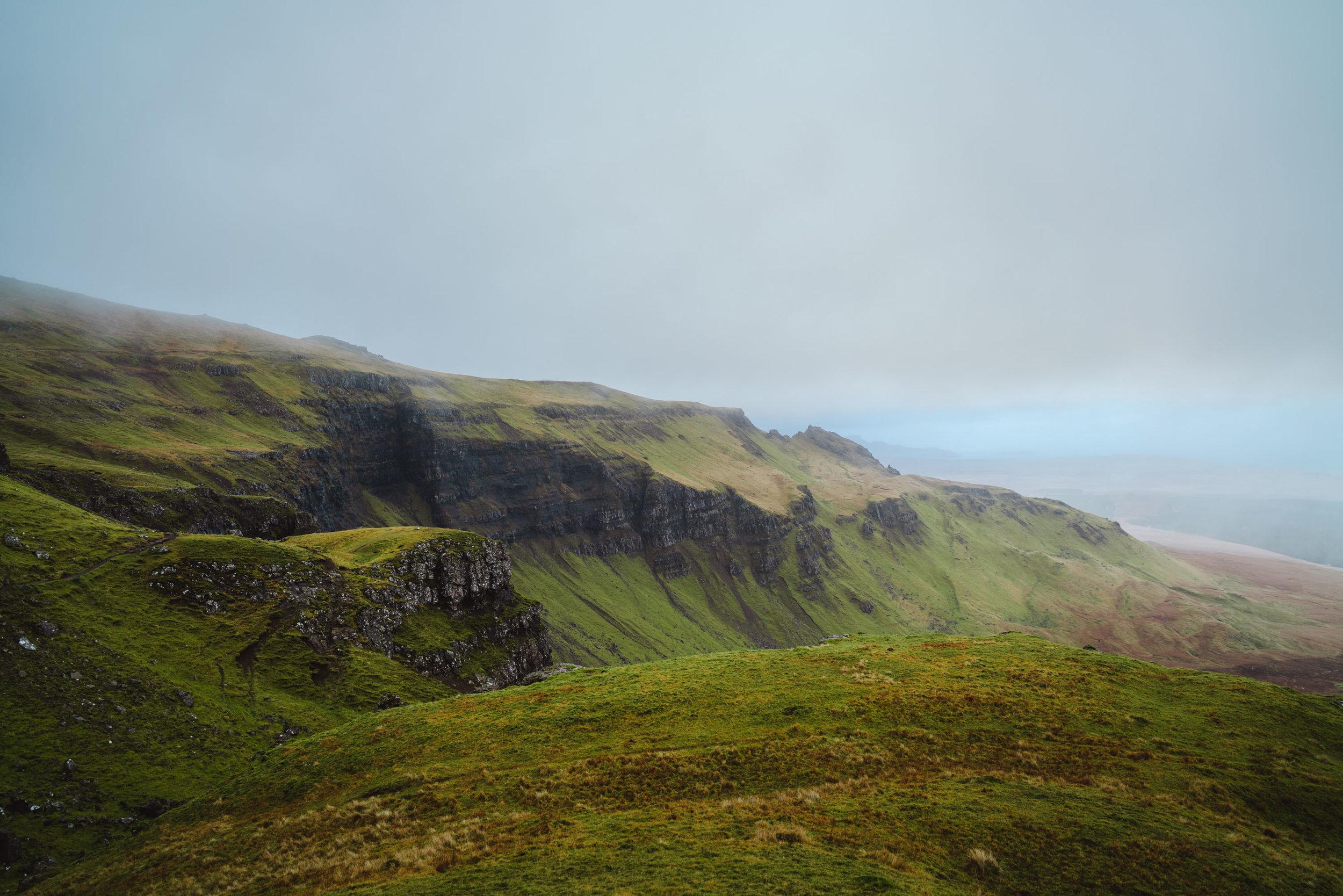Scotland moody landscape in the Isle of Skye