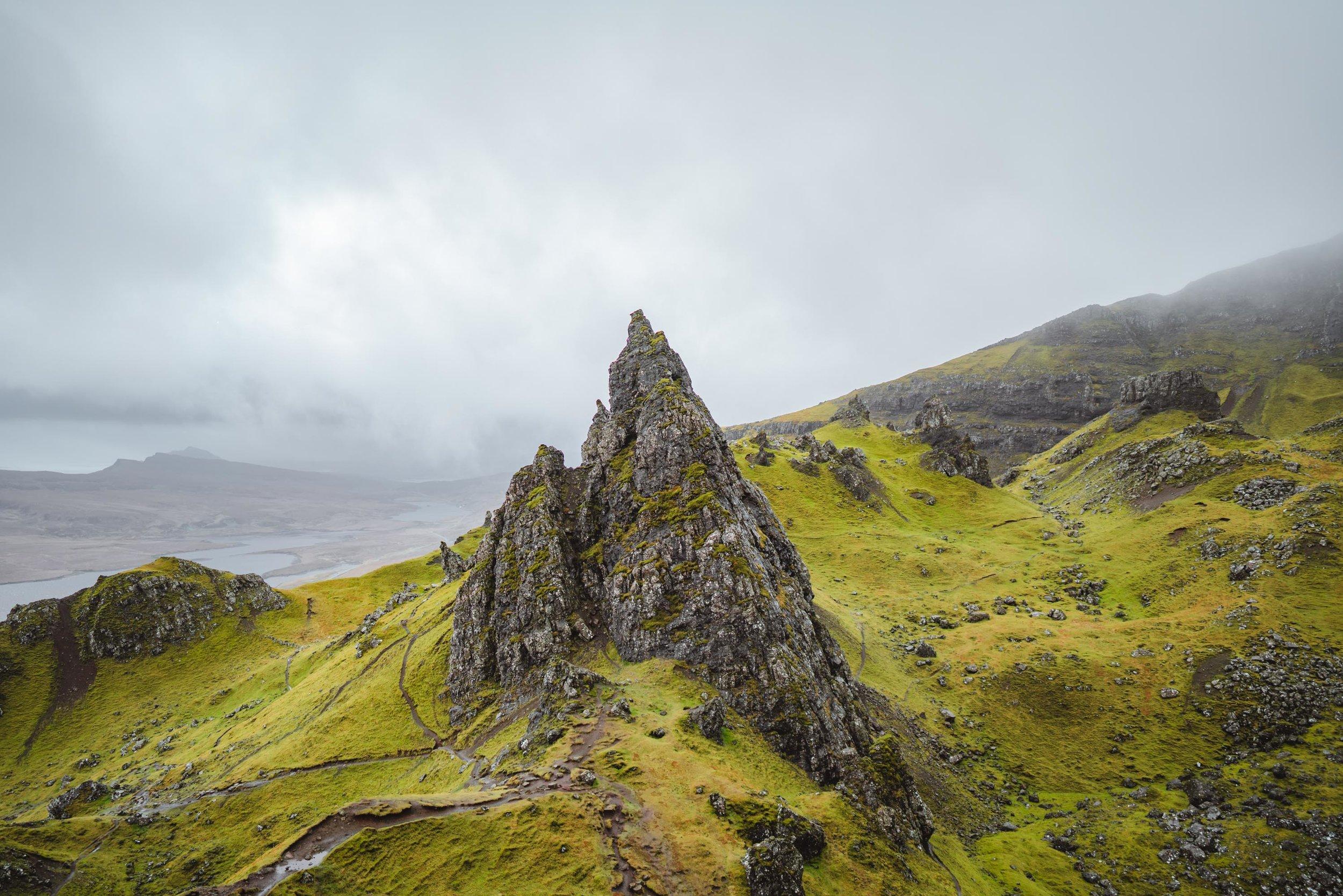 Rock of Old Man of Storr, Isle of Skye, Scotland