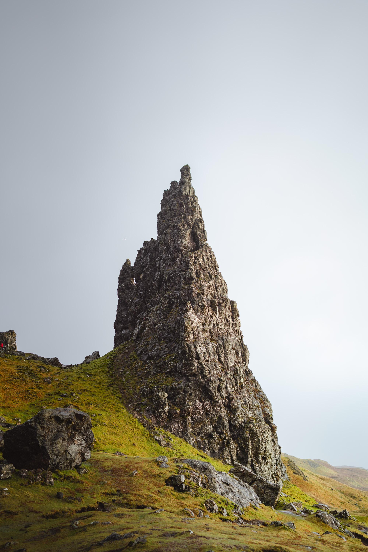 Peak of Old Man of Storr in Scotland