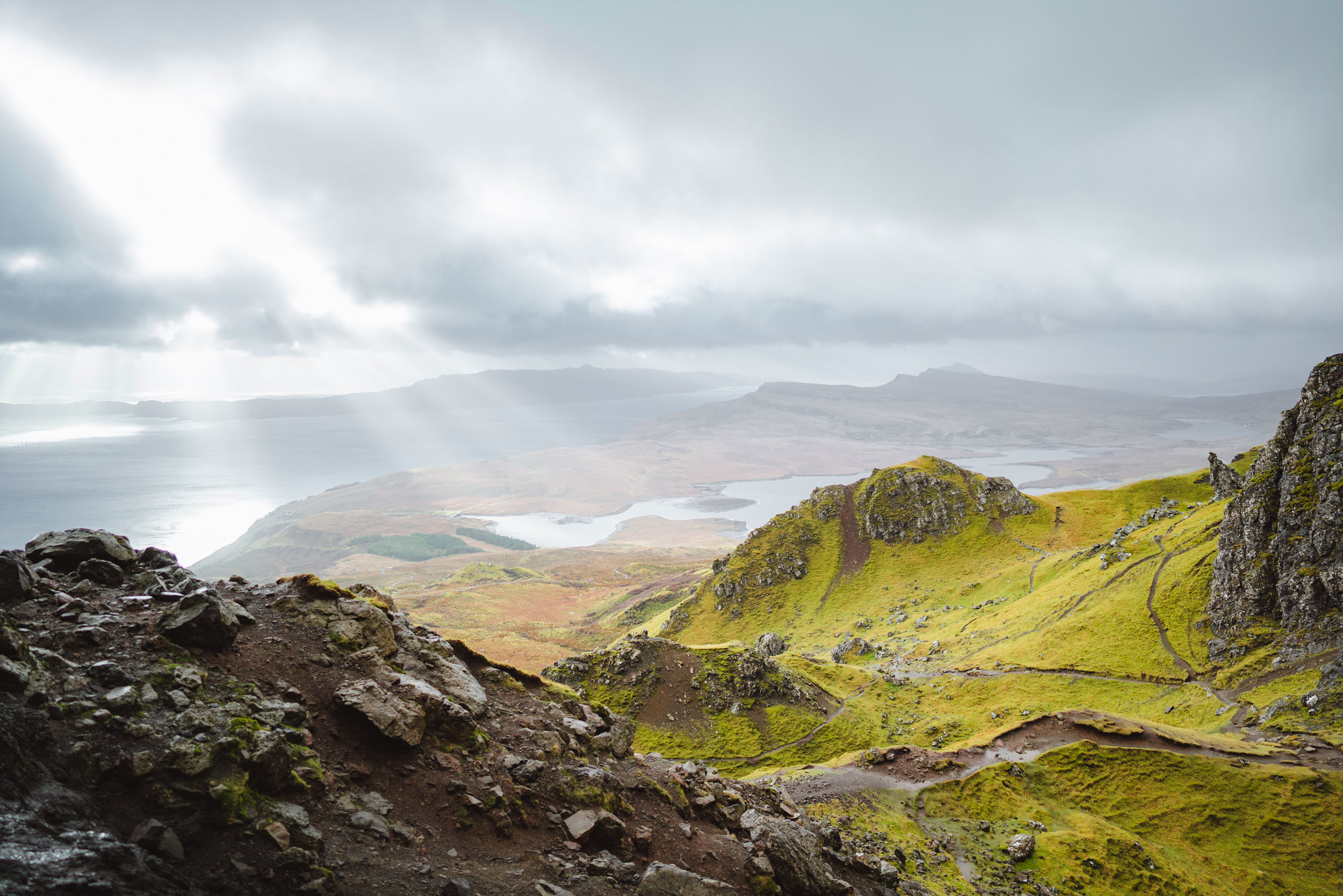 View from Old Man of Storr in Isle of Slye, Scotland