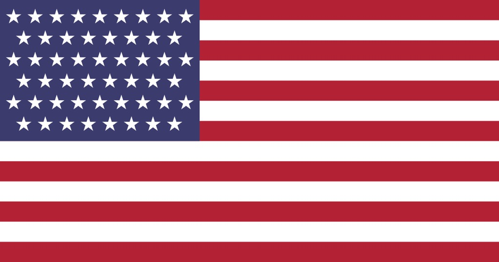 The usa flag - with Alberta as the 51st State