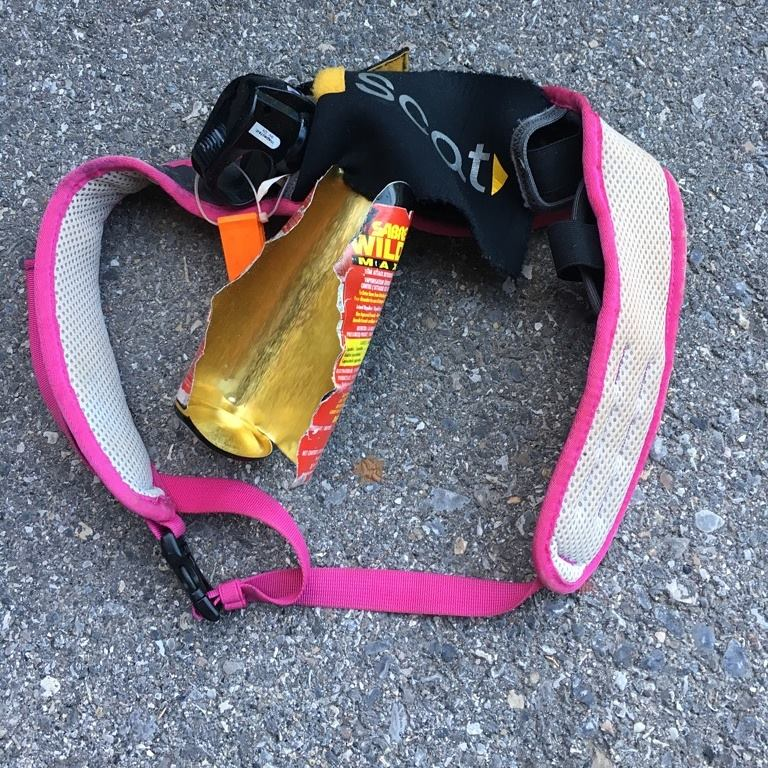 An example of bear spray that exploded in a car on a hot day. It was messy!