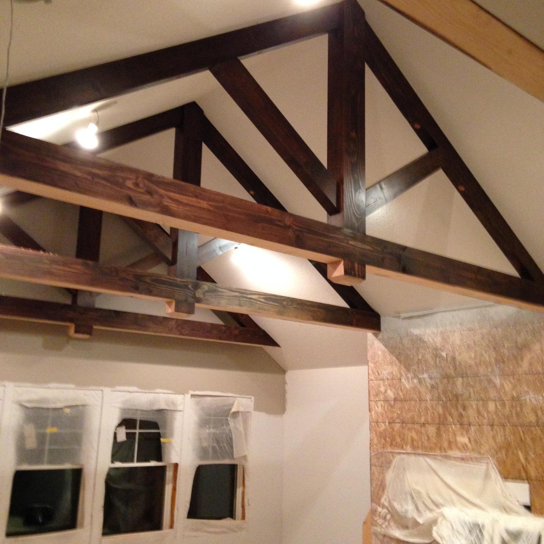 Non-structural Timber Trusses.  Douglas Fir.