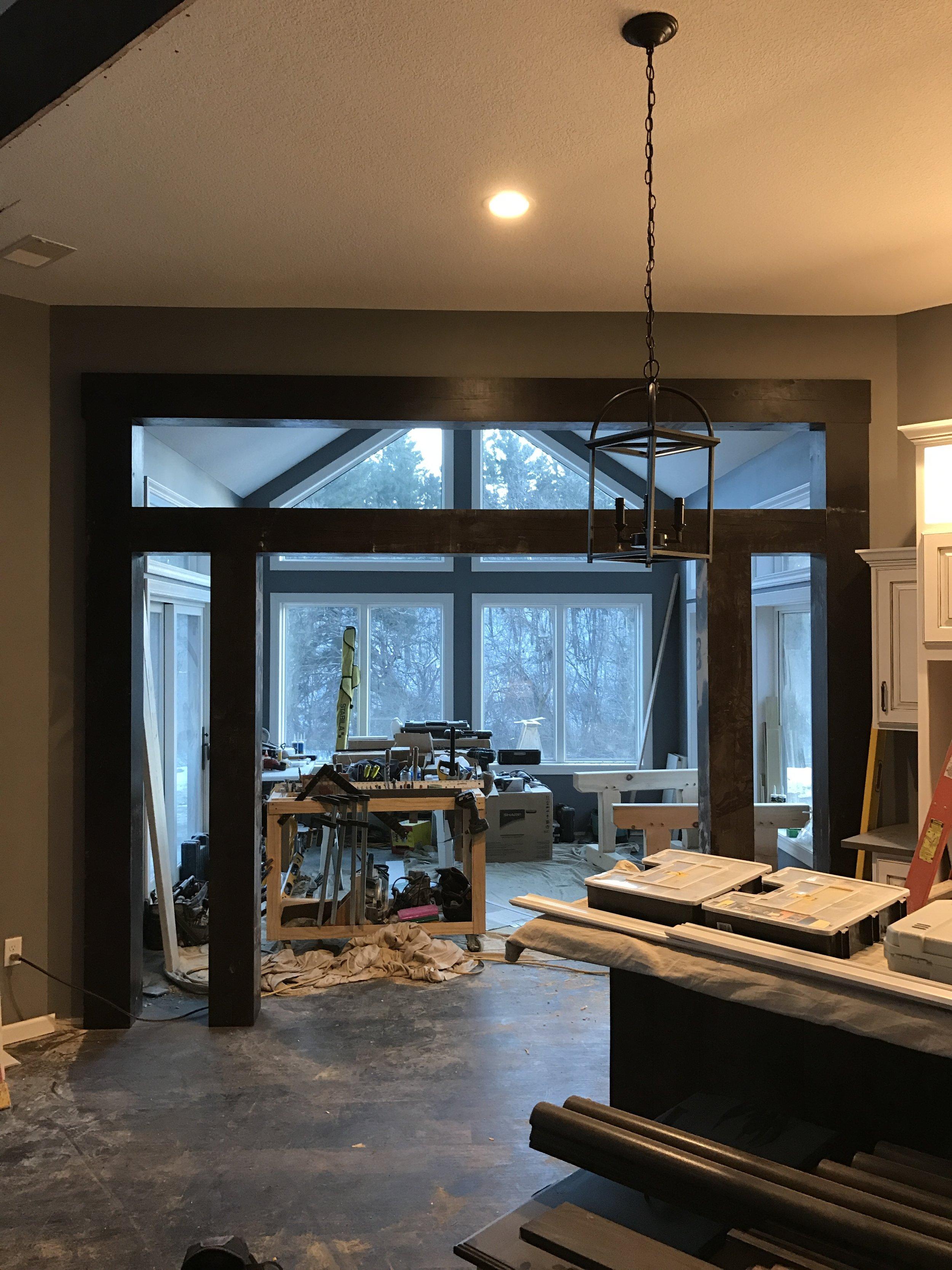 Interior timber accent.