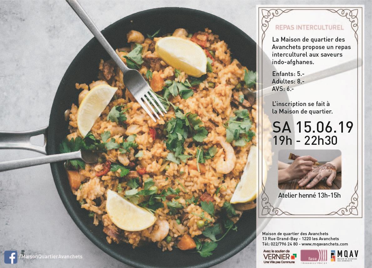 Affiche repas interculturel
