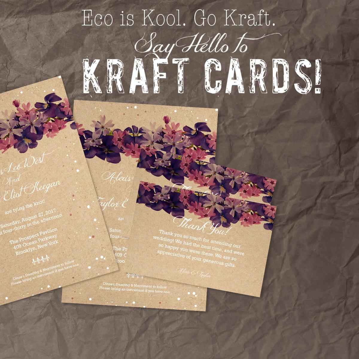 BROWN KRAFT CARDS