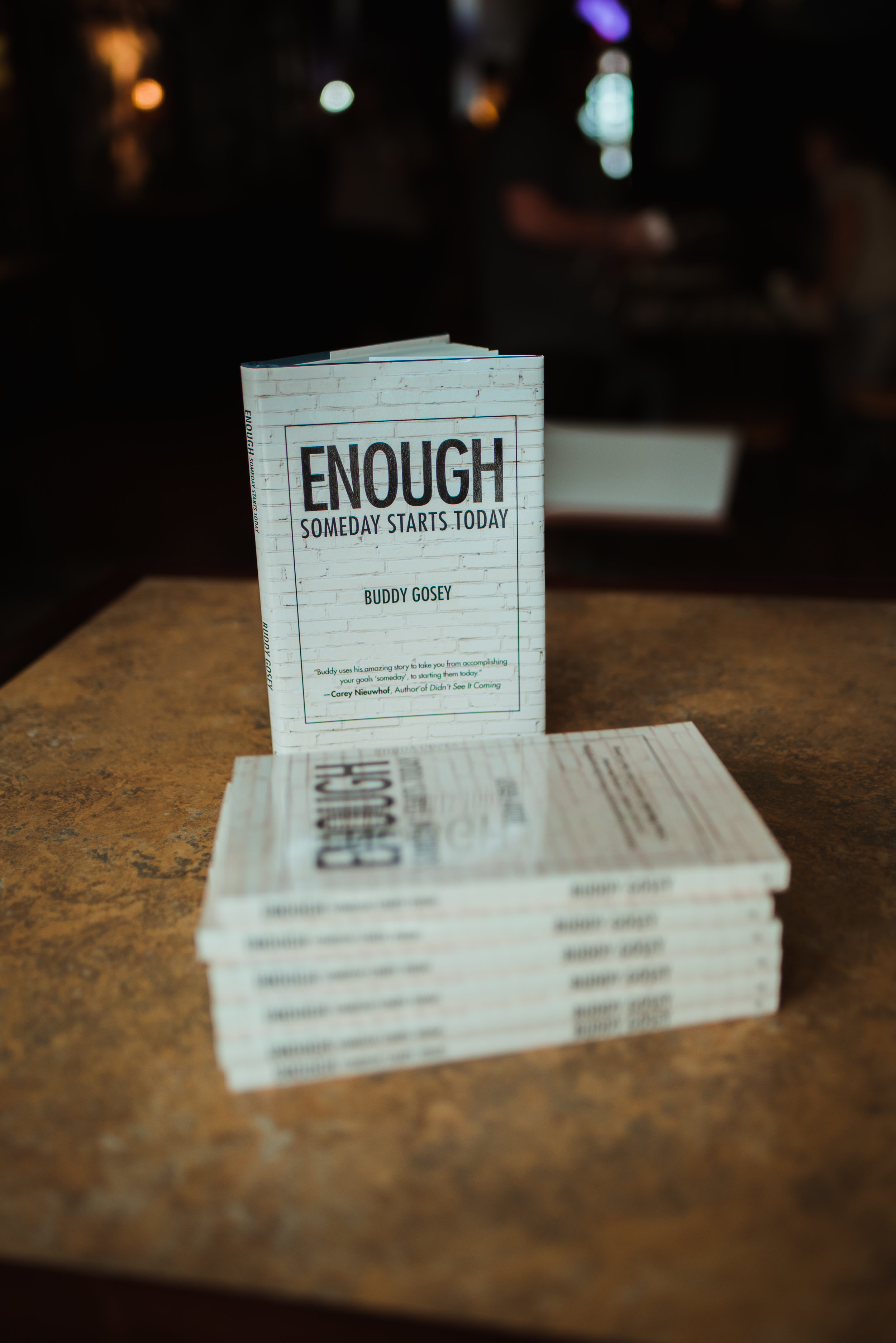 Enough - Read ItWhether you prefer an eBook or a physical copy, let your someday start today by ordering on Amazon or Books-A-Million.com. Click HEREListen To ItIf you prefer to listen to Enough, just click HERE