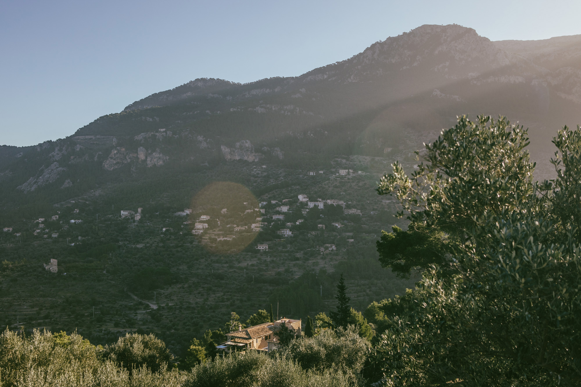 A village in the Serra de Tramuntana, visible from the MA-10.
