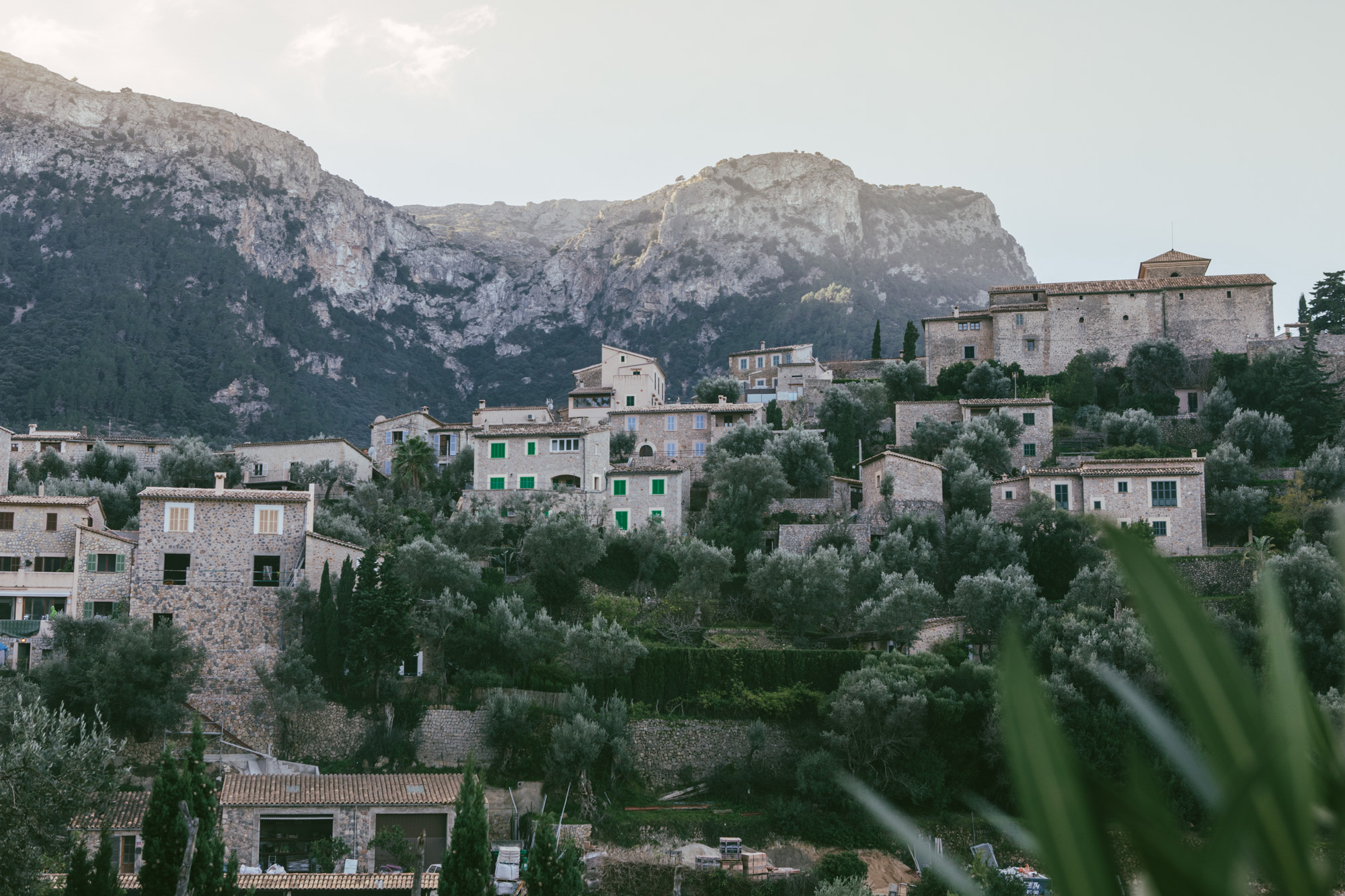 Another angle of part of Deia, just before the sun began to spill over.