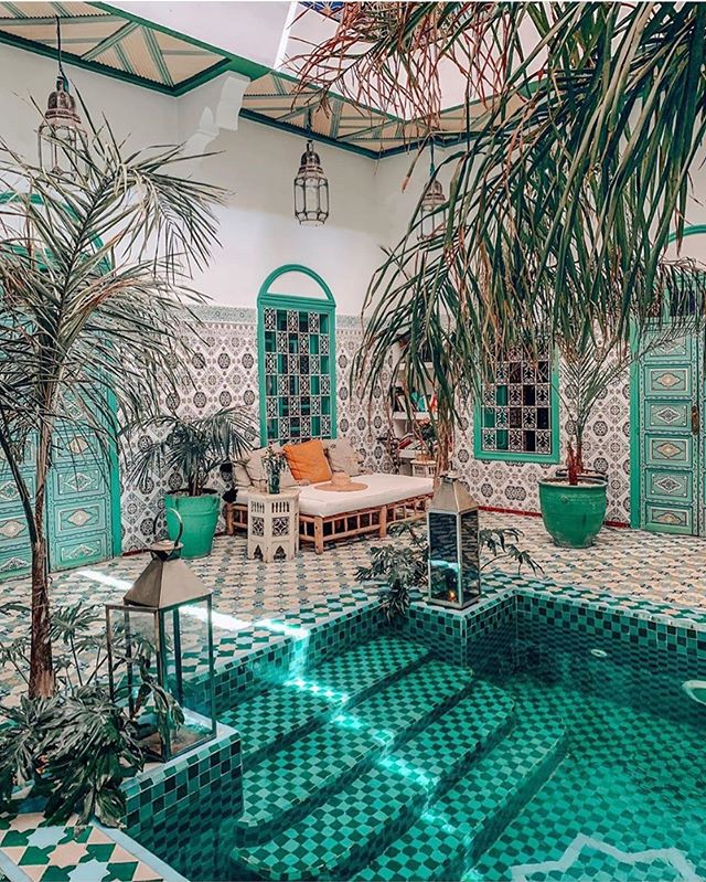 Turquoise dreams and travel inspiration to get you through the week. 😍🇲🇦// via @thejungalow @closetteblog @bemarrakech // #shedidthat #vibes #turquoise #marrakech #marrakesh #morocco