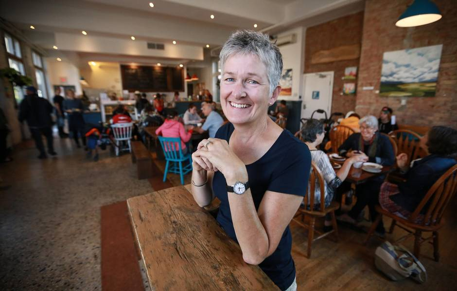 Sue Carr is pictured at 541 Eatery and Exchange in Hamilton, On.