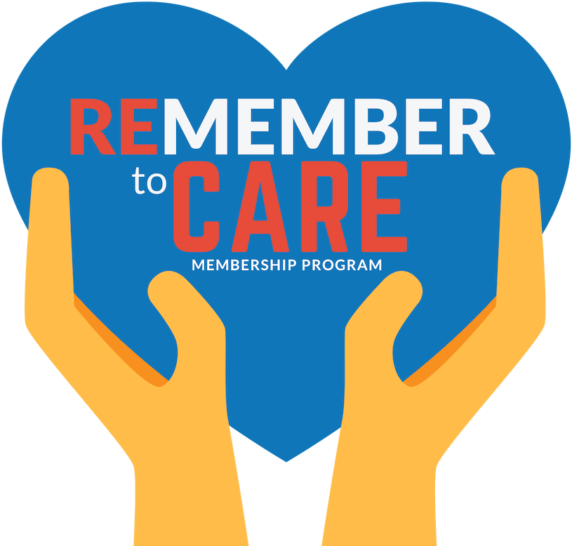 ReMEMBER to Care logotype with logo