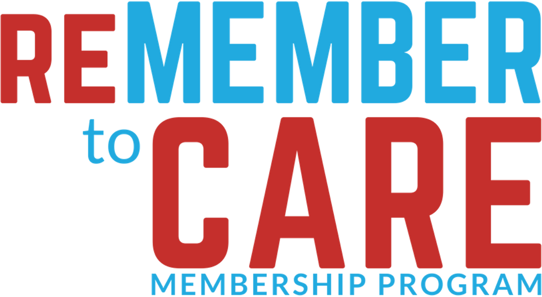 ReMEMBER to Care logotype - blue