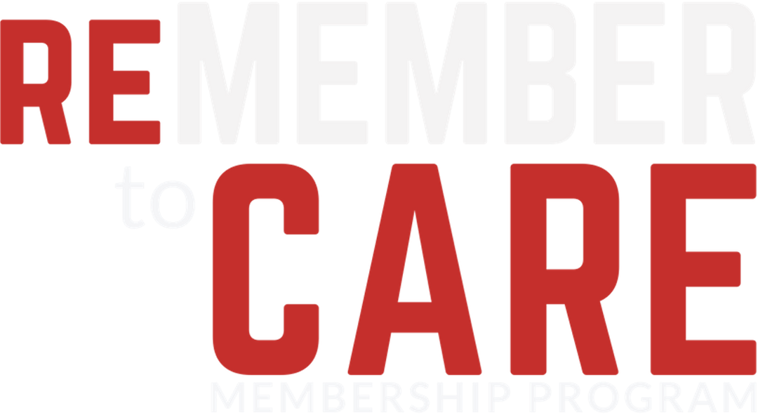 ReMEMBER to Care logotype - white