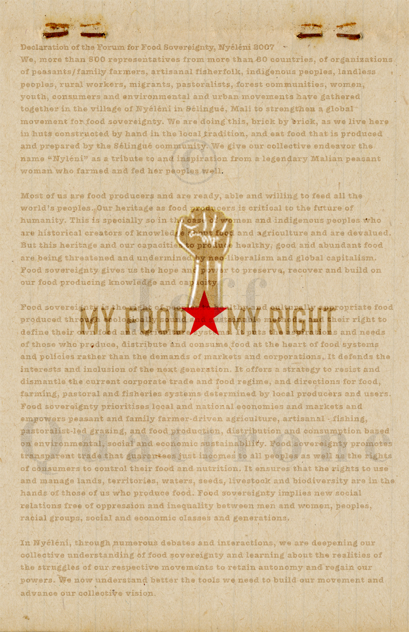 My Food, My Right