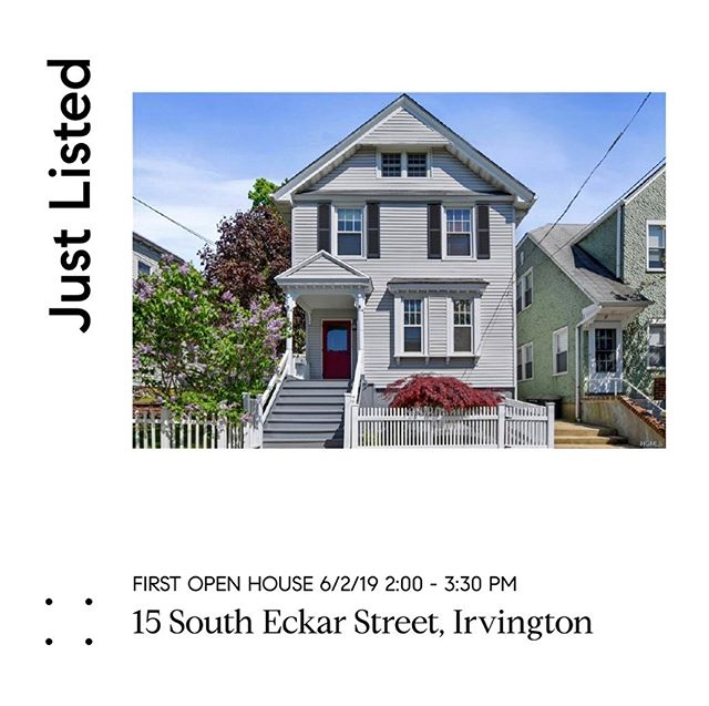 Come see us, and this adorable home, right in the village of Irvington. 🏡 And afterwards...walk back to the train or anywhere in town. Can't beat this location or price! 🏡 Sunday | 2:00-3:30 15 S. Eckar St. Irvington, NY  #agentsofcompass #compassny #whywestchesterny #irvingtonny #investwisely