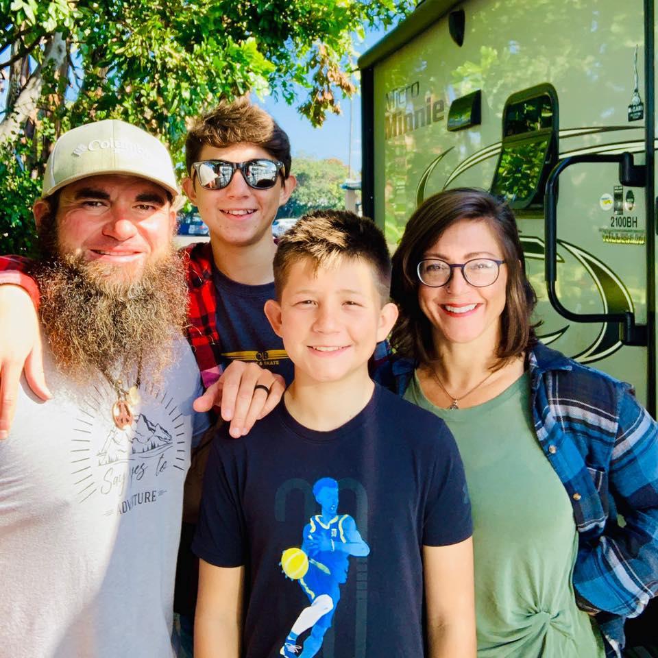 Matt, Tucker (14), Tasher (12), and Casey Ruthardt